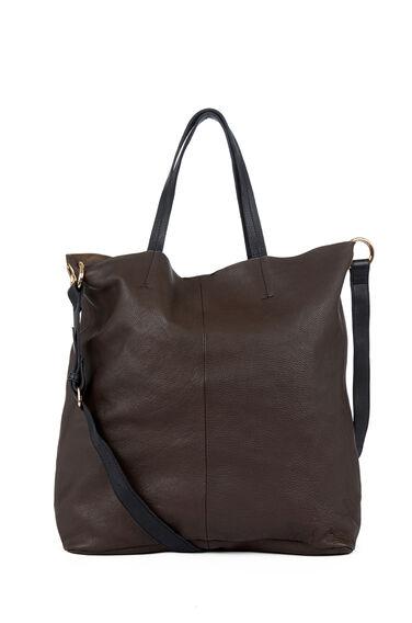 Warehouse, Eyelet Detail Shopper Bag Dark Grey 1