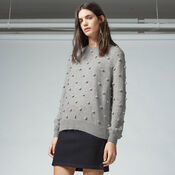 Warehouse, POM POM JUMPER Light Grey 1