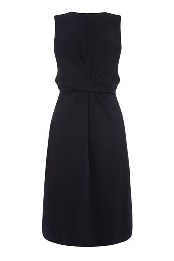 Warehouse, SLEEVELESS WIGGLE DRESS Navy 0