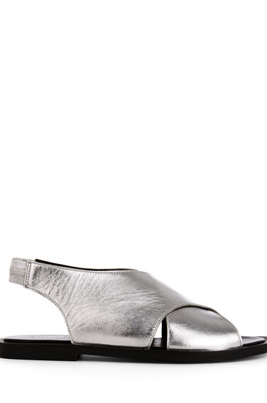 Warehouse, CROSS OVER SANDAL Silver Colour 0