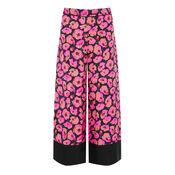 Warehouse, POPPY PRINT SILK TROUSER Pink Pattern 0