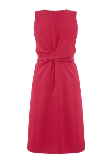 Warehouse, SLEEVELESS WIGGLE DRESS Bright Pink 0