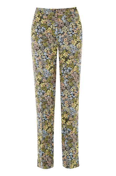 Warehouse, DAFFODIL JACQUARD TROUSERS Multi 0
