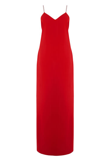 Warehouse, DIAMANTE MAXI DRESS Bright Red 0