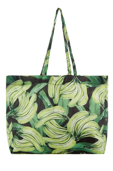 Warehouse, BANANA PRINT BEACH BAG Yellow 0
