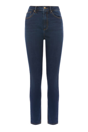 Warehouse, POWERHOLD HIGH RISE SKINNY CUT Indigo Denim 0