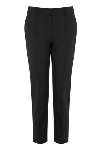 Warehouse, COMPACT COTTON TROUSERS Black 0