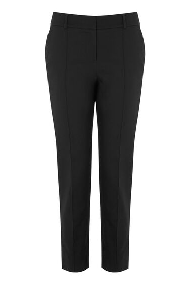 Warehouse, COMPACT COTTON TROUSER Black 0