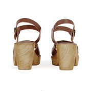 Warehouse, Criss Cross Clog Tan 4