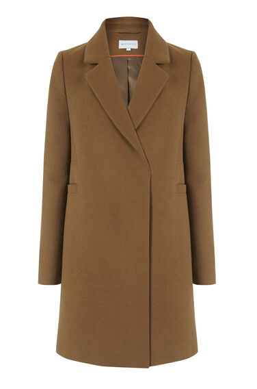 Warehouse, Smart Tailored Coat Tan 0