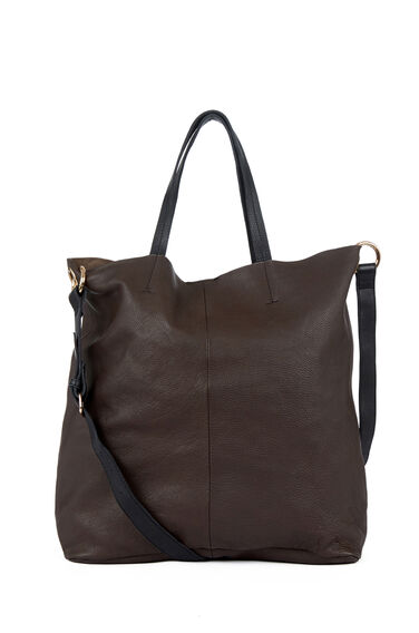 Warehouse, Eyelet Detail Shopper Dark Grey 0