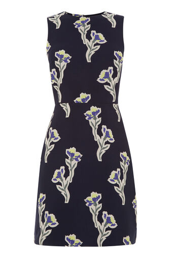 Warehouse, IRIS JACQUARD DRESS Multi 0