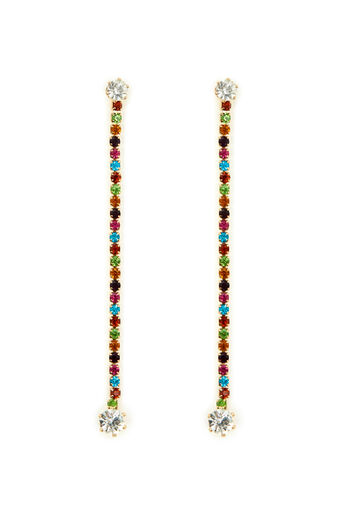 Warehouse, RAINBOW STONE DROP EARRING Gold Colour 0