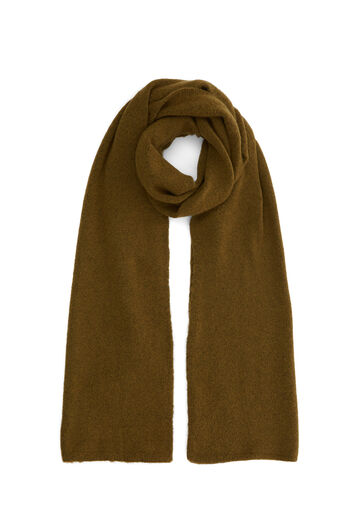 Warehouse, COSY KNIT SCARF Khaki 0