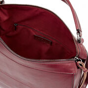 Warehouse, Slouchy Zipped Satchel Bag Dark Red 4