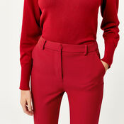 Warehouse, SLIM LEG TROUSER Bright Red 4