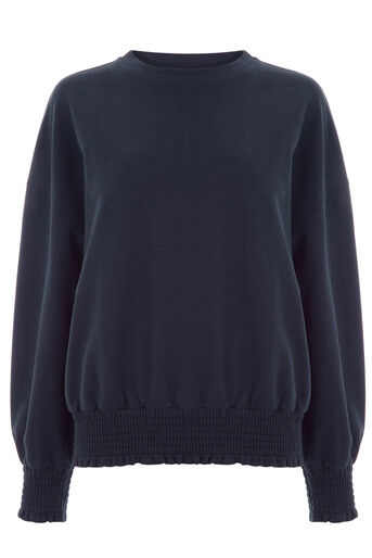 Warehouse, CUFF DETAIL SWEAT Midnight 0
