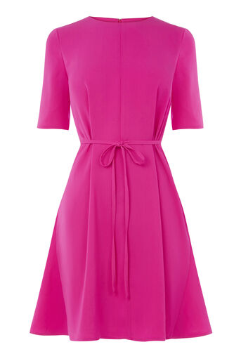 Warehouse, FLIPPY DRESS Bright Pink 0