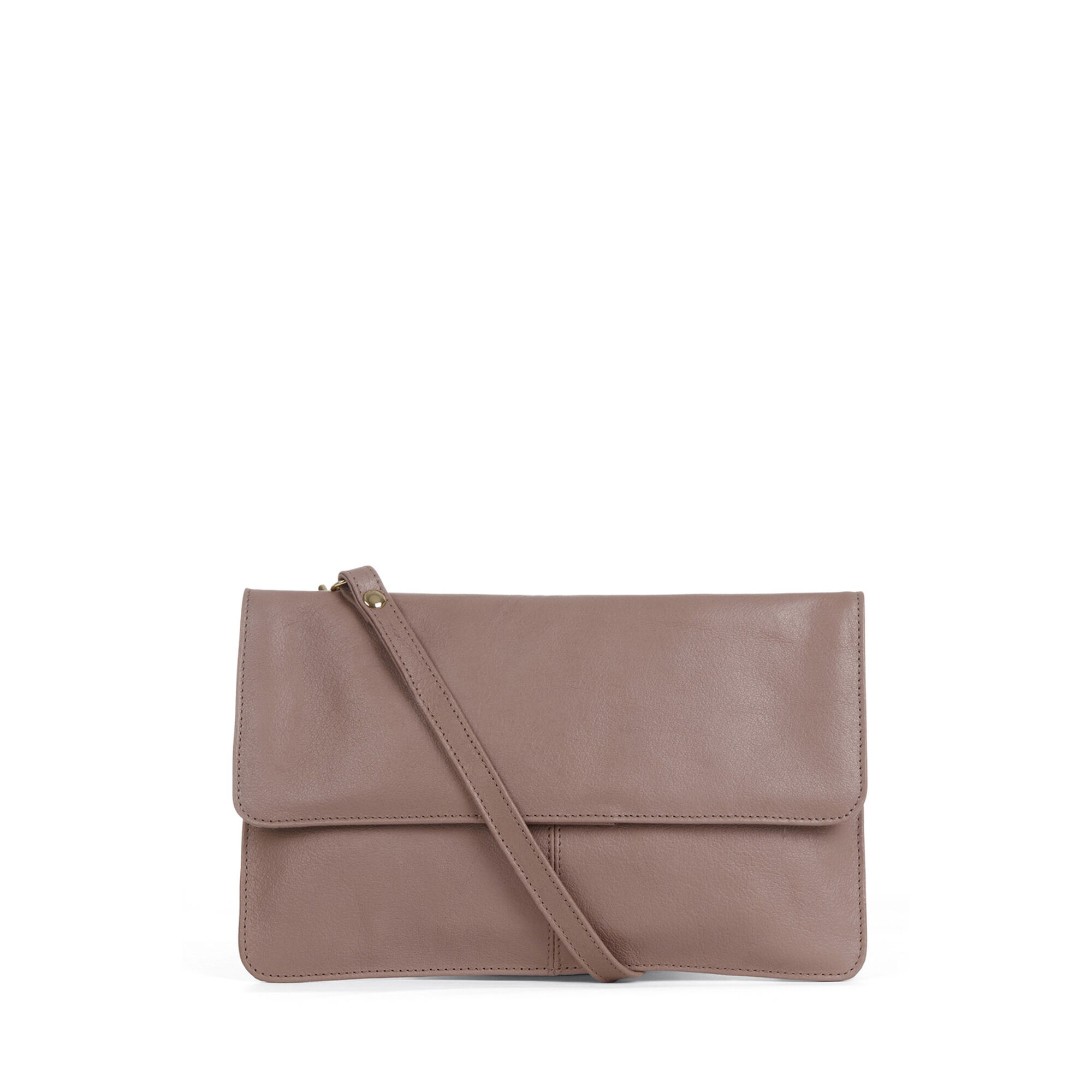 Warehouse, Clean Leather Crossbody Bag Mink 1