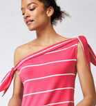 Warehouse, STRIPE TIE SHOULDER TOP Pink Stripe 4