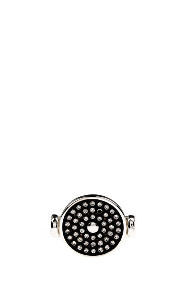 Warehouse, Embellished Disc Ring Silver Colour 0