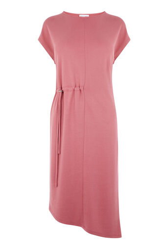 Warehouse, SLINKY TOGGLE MIDI DRESS Dark Pink 0