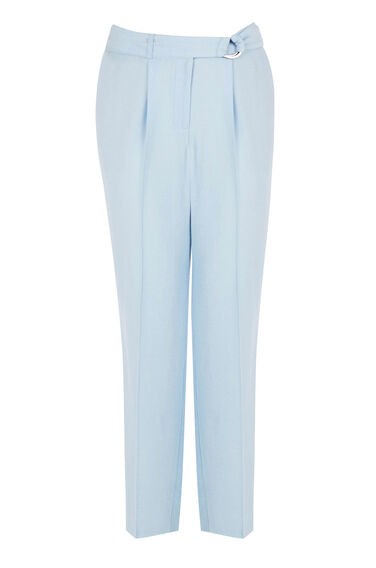 Warehouse, SOFT BELTED PEG TROUSERS Light Blue 0