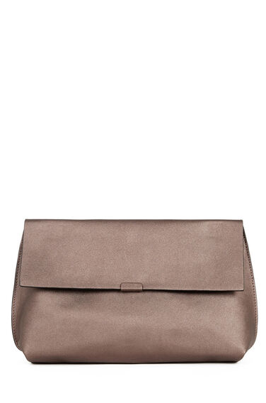 Warehouse, Bonded Clutch Bag Pewter 0