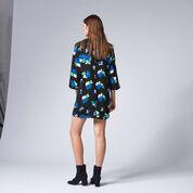 Warehouse, INK ROSE SHIFT DRESS Black 3