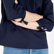 Warehouse, Cotton Off The Shoulder Top Navy 4