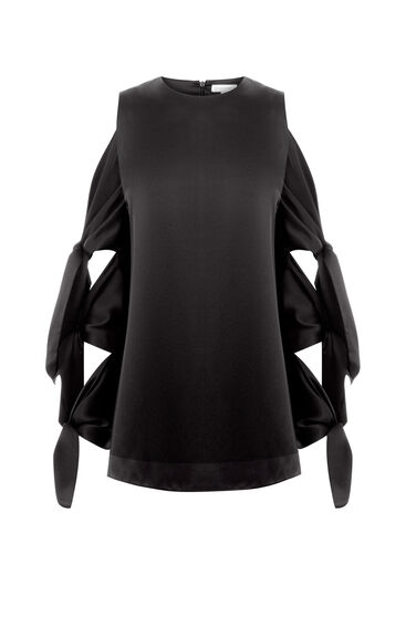Warehouse, TIE SLEEVE DRESS Black 0