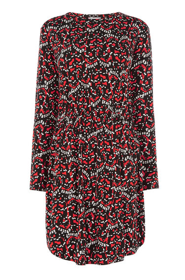 Warehouse, TIGER MOTH T-SHIRT DRESS Multi 0