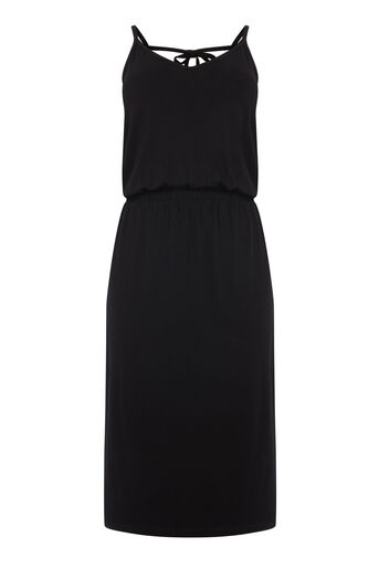 Warehouse, CAMI MIDI DRESS Black 0