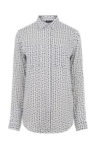 Warehouse, SQUIGGLE PRINT SHIRT Neutral  Print 0
