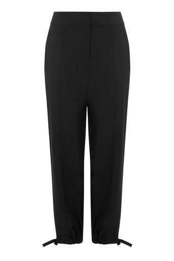Warehouse, TIE HEM TROUSERS Black 0