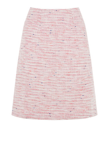 Warehouse, SUMMER TWEED PELMET SKIRT Cream 0