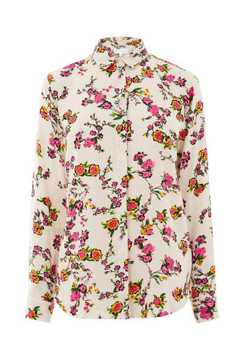 Warehouse, SPACED SIDNEY FLORAL SHIRT Cream 0