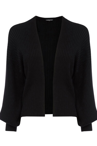 Warehouse, Balloon Sleeve Cardi Black 0