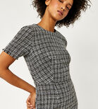 Warehouse, MONO TWEED DRESS Black Pattern 4