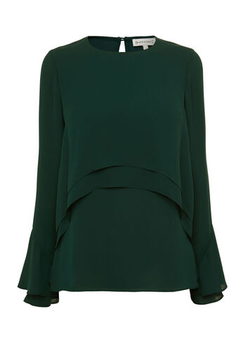 Warehouse, DOUBLE LAYER TOP Dark Green 0