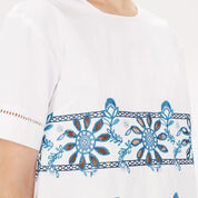 Warehouse, Embroidered T-Shirt White 4