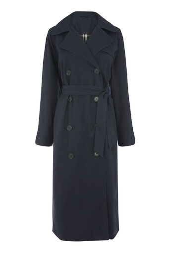 Warehouse, Check Lined Trench Navy 0