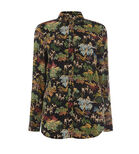 Warehouse, DEER WOODLAND CASUAL SHIRT Black Pattern 0