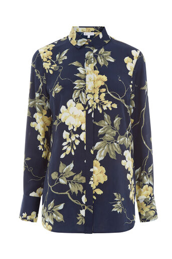 Warehouse, WISTERIA FLORAL SHIRT Blue Pattern 0