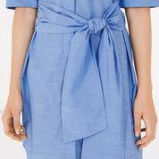 Warehouse, Tie Front Shirt Dress Light Blue 4
