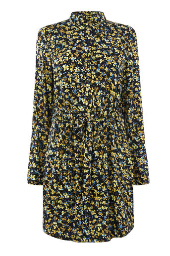 Warehouse, MINI MARIGOLD SHIRT DRESS Mustard 0