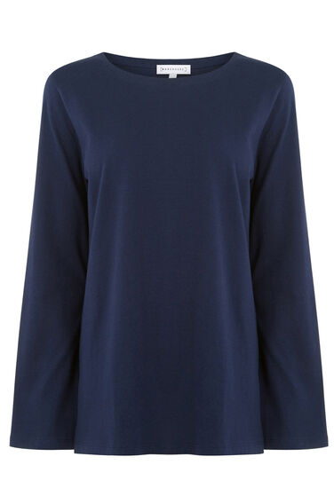 Warehouse, BELL SLEEVE TOP Navy 0