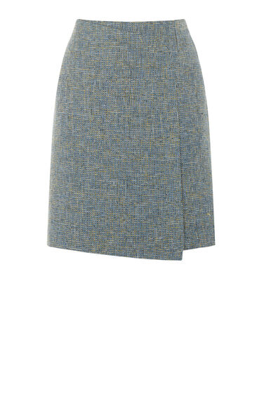 Warehouse, TWEED PELMET SKIRT Yellow 0