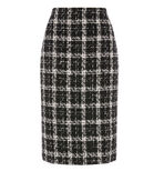 Warehouse, TWEED CHECK PENCIL SKIRT Multi 0