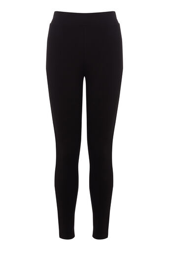 Warehouse, PONTE LEGGINGS Black 0